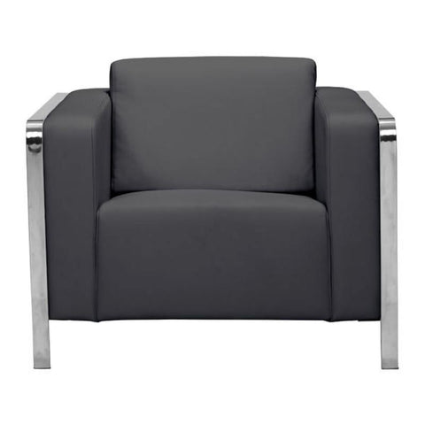Zuo Modern Thor Black 100385 Arm Chair-Arm Chairs-Zuo Modern-bedsville.com