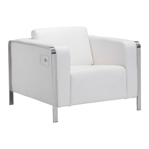 Zuo Modern Thor White 100384 Arm Chair-Arm Chairs-Zuo Modern-bedsville.com