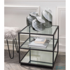 Image of Zuo Modern Winslett Clear White and Matt Black 100994 End Table-End Tables-Zuo Modern-bedsville.com