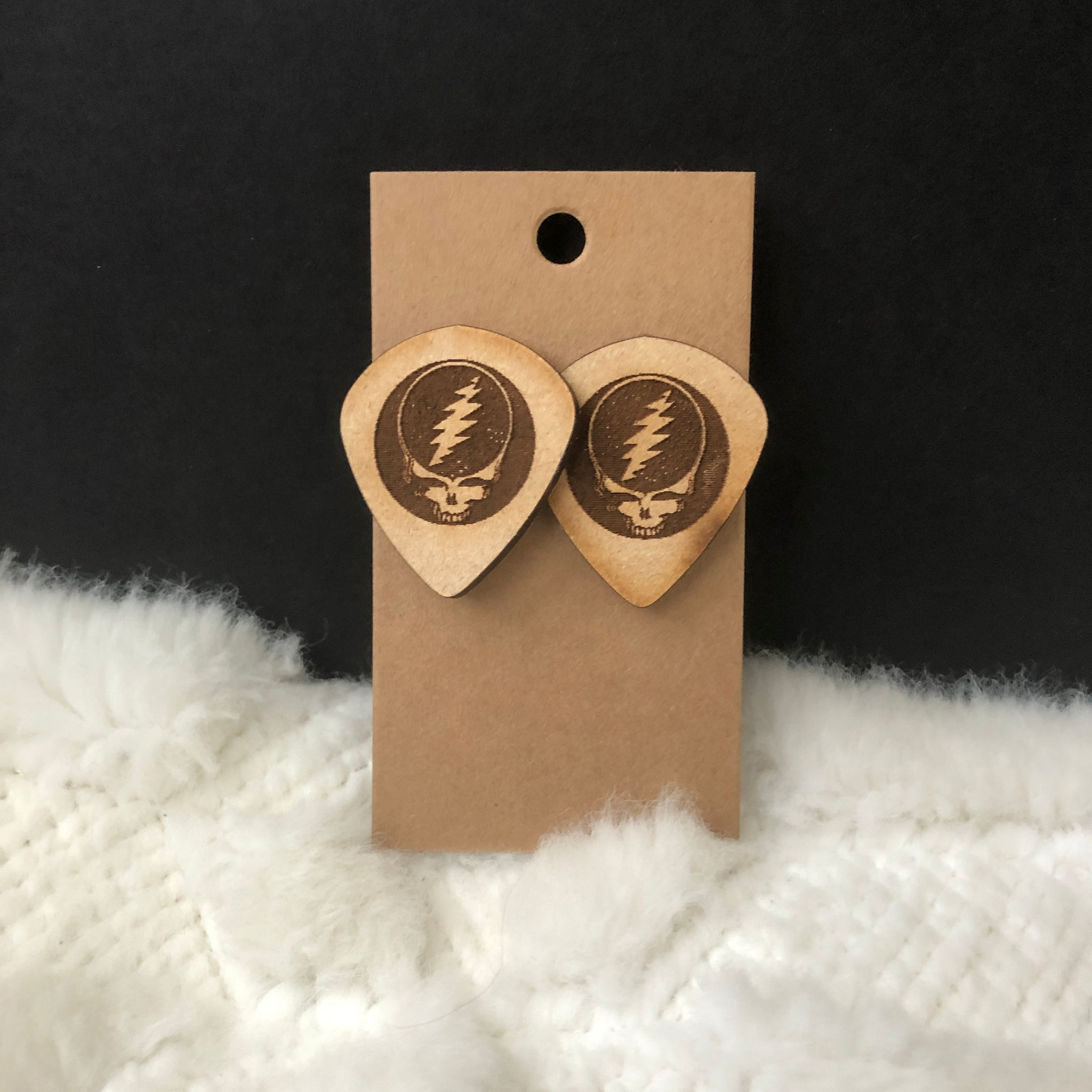 Grateful Dead Stealie Earrings