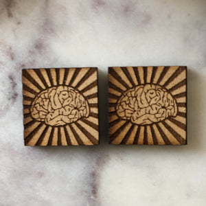 Inspired Brain Earrings