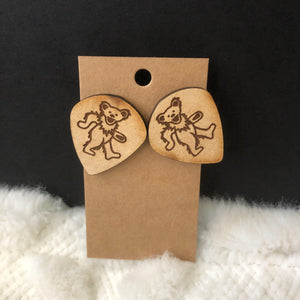 Dancing Bear Grateful Dead Earrings
