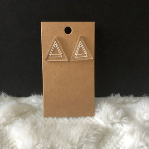 Triangle Acrylic Earrings