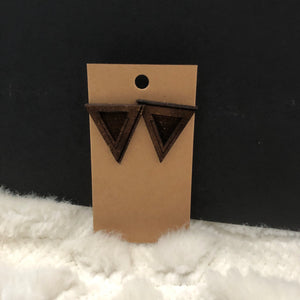 Burnt Triangle Earrings