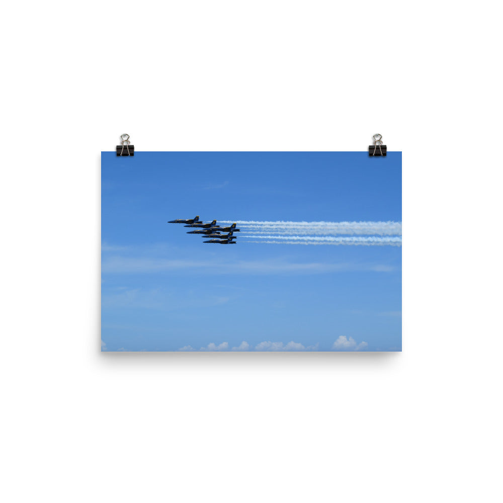 5 Blue Angels Poster