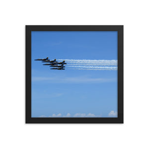 5 Blue Angels Framed