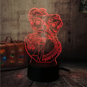 Lampe REINE DES NEIGES 3D LED