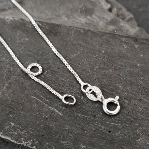 Sterling Silver Box Chain Light Weight