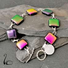 Load image into Gallery viewer, Handmade Dichroic Glass Bracelet