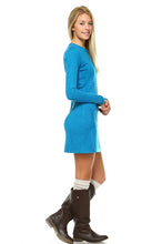 Load image into Gallery viewer, Women's Sweater Dress with Front Pockets