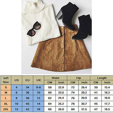 Load image into Gallery viewer, Women's Apparel Suede Leather Skirt 90's Vintage High Waist