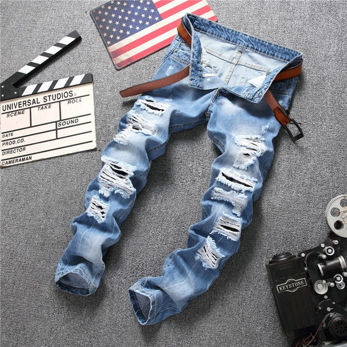 Men's Ripped Hole Designed Jeans