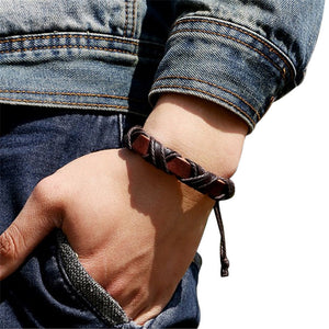 Weave Vintage Leather Bracelet