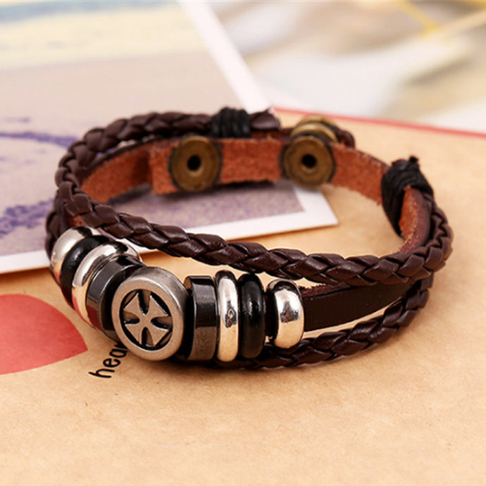 Men's Leather Bracelet & Bangles Jewelry