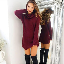 Load image into Gallery viewer, Women's Casual Warm Long Sleeve Jumper Turtleneck Sweaters