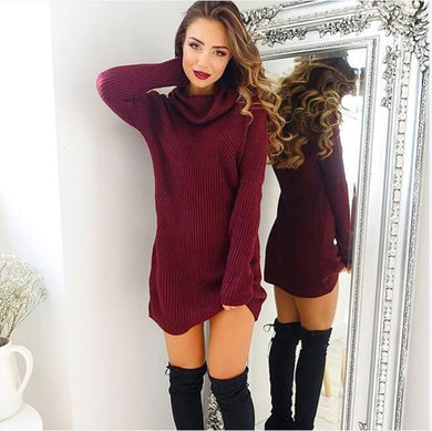 Women's Casual Warm Long Sleeve Jumper Turtleneck Sweaters