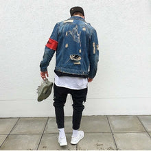 Load image into Gallery viewer, Men's Classic Broken Zipper Denim Jacket