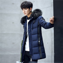 Load image into Gallery viewer, Men's Long Jacket Faux Fur Collar Coat