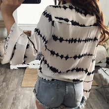 Load image into Gallery viewer, Women's Loose Long Sleeve Printed Tops Chiffon
