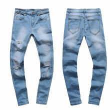Load image into Gallery viewer, Men's Ripped Slim Fit Vintage Denim Jeans