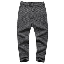 Load image into Gallery viewer, Men's Skinny Solid Color Woolen Suit Pants