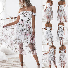 Load image into Gallery viewer, Women's Summer Off Shoulder Floral Printed Long Maxi Dress