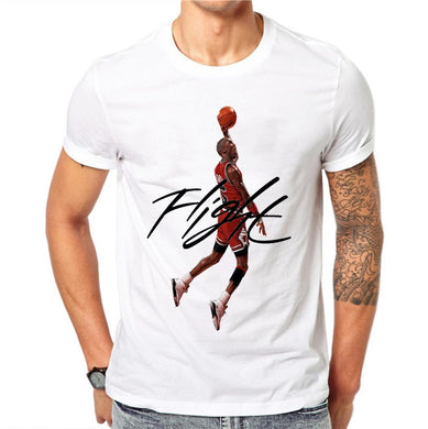Men's Cartoon MJ Printed TShirt Short Sleeves