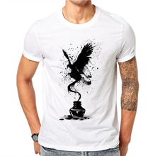 Load image into Gallery viewer, Men's 3D Black Ink Butterfly Print Cartoon Tshit