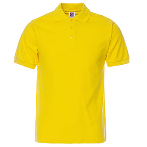 Men's Polo Shirt Short Sleeve Cotton Solid 16 different colors