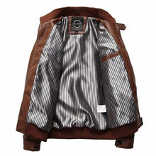 Load image into Gallery viewer, Men's PU Leather Jacket Black or Brown
