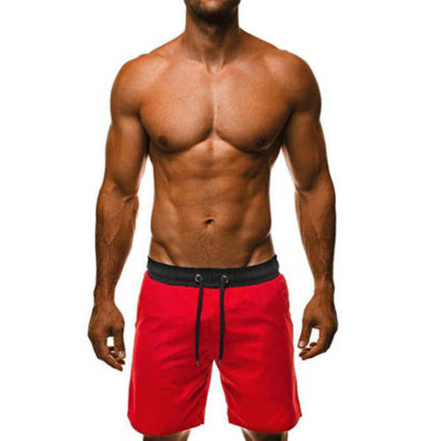 Men's Shorts Solid Beachwear Quick Dry