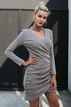 Load image into Gallery viewer, Women's Sexy halter v neck Sweater Dress Long Sleeve