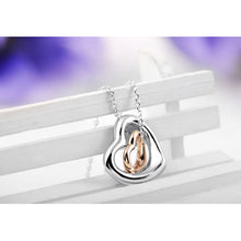 Load image into Gallery viewer, Double Heart Gold-Silver Overlay Pendant