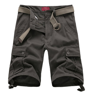 Men's Cotton Short Military Fashion Pockets