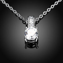 Load image into Gallery viewer, Swarovski Crystal Plated Diamond Simulated Necklace