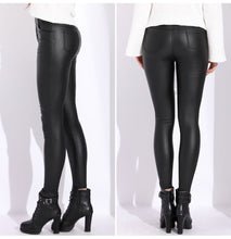 Load image into Gallery viewer, Women's Leather Tight High Waist Pants
