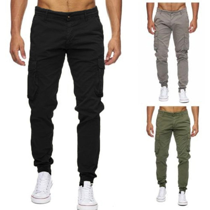 Men's Casual Cargo Pants Loose Sweatpants