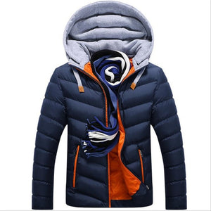 Men's Hat Detachable Warm Cotton Padded Jackets