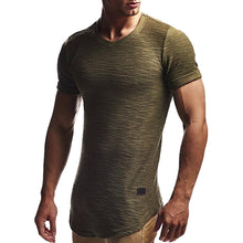 Load image into Gallery viewer, Men's Slim Fit O Neck Short Sleeve Shirts