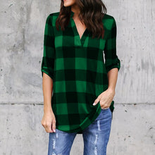 Load image into Gallery viewer, Women's Blouses Long Sleeve Flannel Shirt