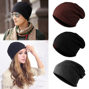 Unisex Men/Women Solid Warm Winter Beanie