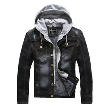 Load image into Gallery viewer, Men's Hooded Casual Warm Jeans Jacket