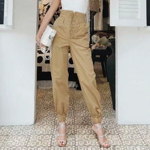 Load image into Gallery viewer, Women's Trousers Loose Casual Cargo Pants High Waist