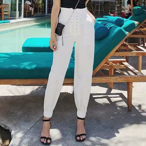 Women's Trousers Loose Casual Cargo Pants High Waist
