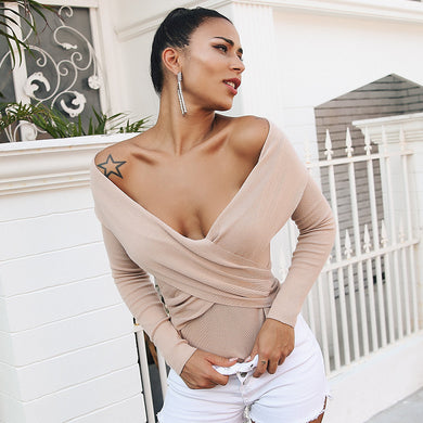 Women's Off shoulder sweater long sleeve