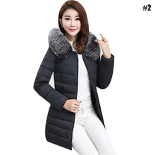Load image into Gallery viewer, Women's Long Slim Cotton padded Jacket