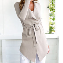 Load image into Gallery viewer, Women's Ladies Long Sleeve Cardigan Coat Suit Top Open Front Jacket Outwear