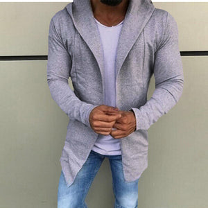 Men's Casual Cardigan Sweater Slim Fit Hoodies Cotton