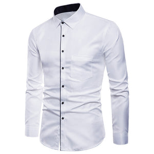 Men's Long Sleeve Oxford Casual Slim Fit Shirt
