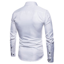 Load image into Gallery viewer, Men's Long Sleeve Oxford Casual Slim Fit Shirt